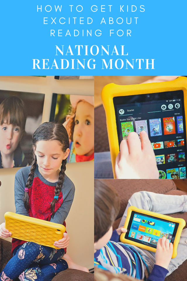 Here's how we get kids excited about reading for National Reading Month! The Fire HD 8 Kids Edition tablet is a great resource! #ad #IC #AmazonKidsAndFamily
