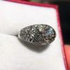 0.94ctw Vintage Old European Cut Diamond Dome Ring, Center OEC (GIA .59ct G SI2) 5