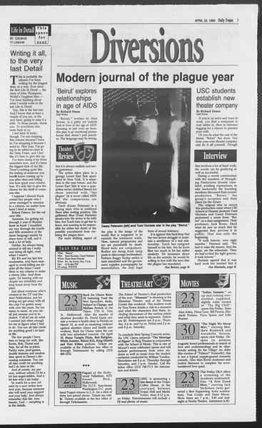 Daily Trojan, Vol. 119, No. 63, April 22, 1993