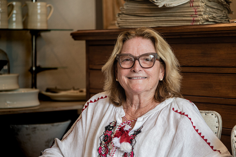 Portrait of Faustina Pace, owner of Faustina Pace Antiques & Interiors and president of the South Dixie Antique Row Association, in West Palm Beach, Wednesday, November 11, 2020. Her antiques store recently opened after being closed for 7 months due to the coronavirus pandemic. Pace has owned the store in this location on South Dixie for the last 15 years.  (JOSEPH FORZANO / THE PALM BEACH POST)