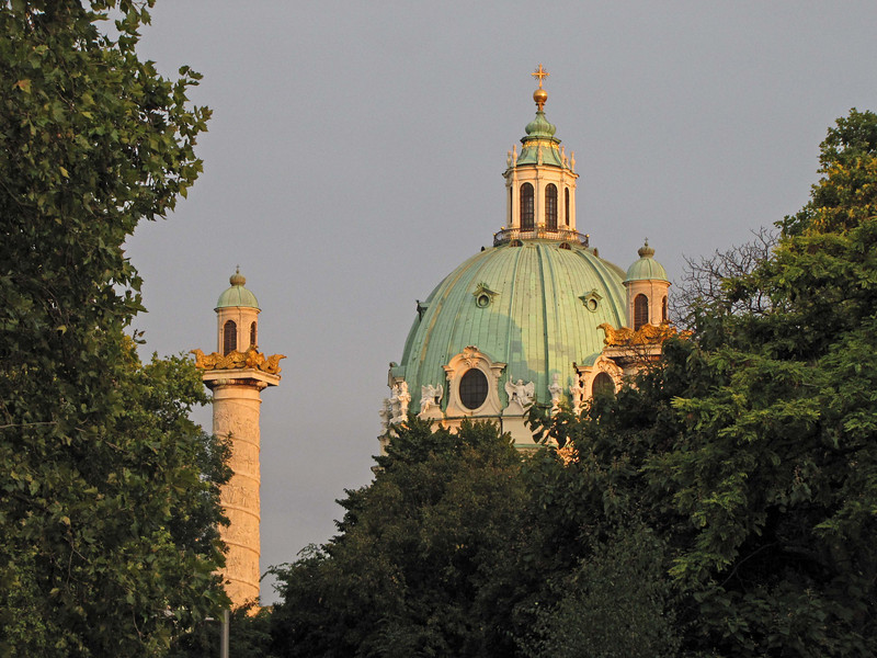 61-KarlsKirche (St. Charles Church), sunset
