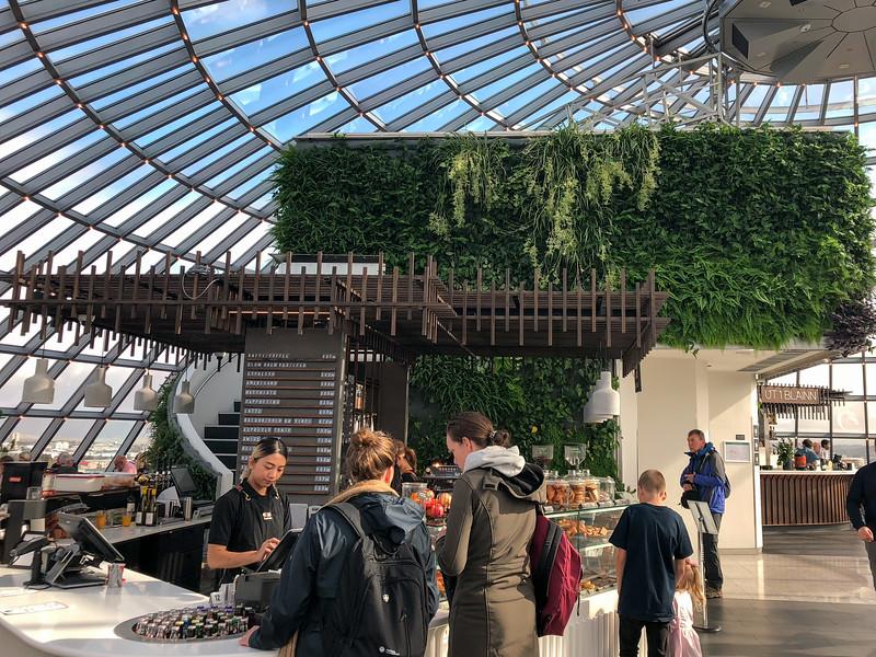 Cafe inside The Perlan in Reykjavik