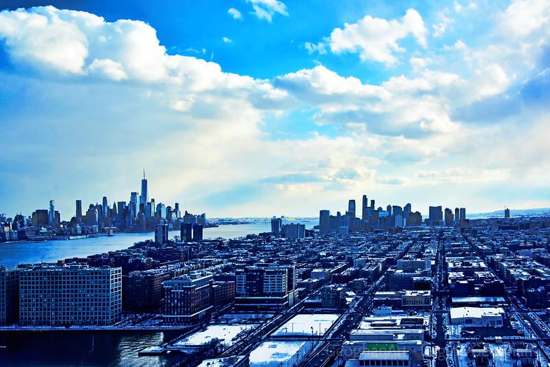 Sky Blues Reflected on NY-NJ