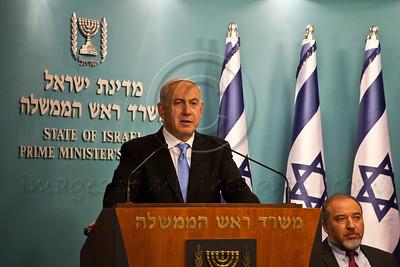 20121121 PM Netanyahu announces Pillar of Defense ceasefire agreement