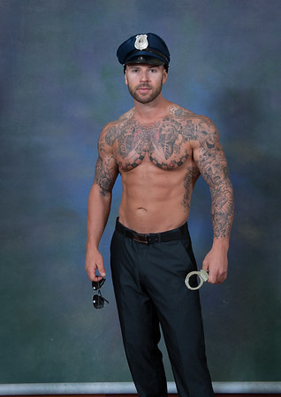 UNEDITED -- Shane as cop for Bleed Blue 69