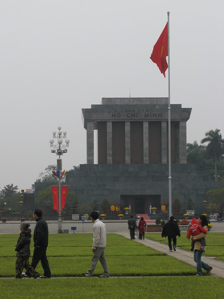 At Ho Chi Minh's Mosoleum - he didn't want to be preserved.