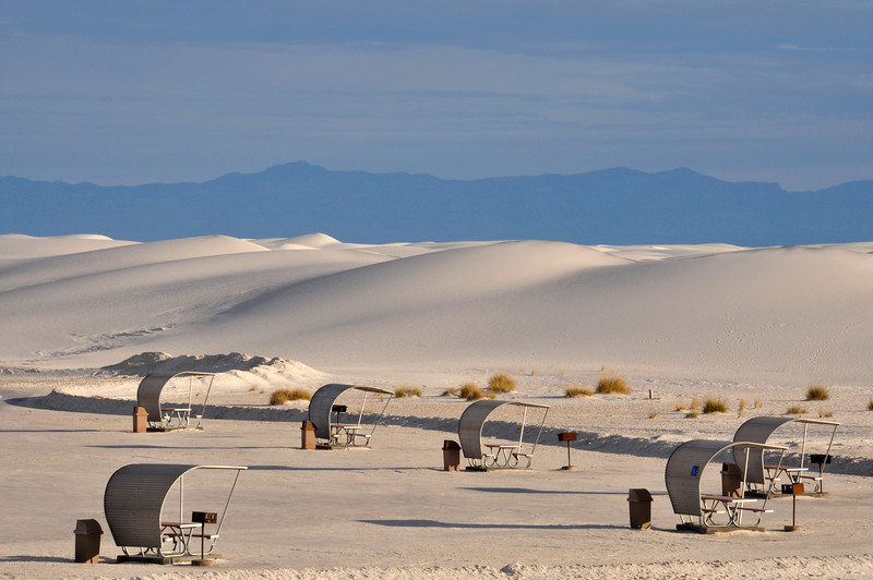 White Sands in the morning.