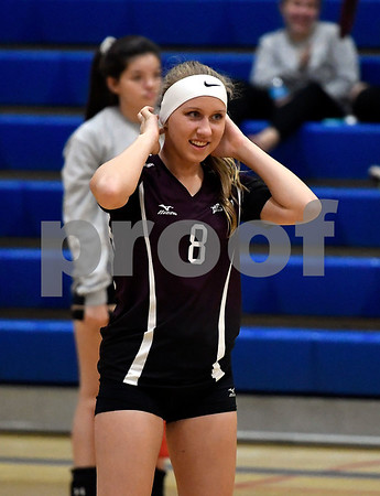 10/19/2017 Mike Orazzi   Staff Bristol Central's Amanda Warner (8) during Thursday's volleyball match in Plainville.