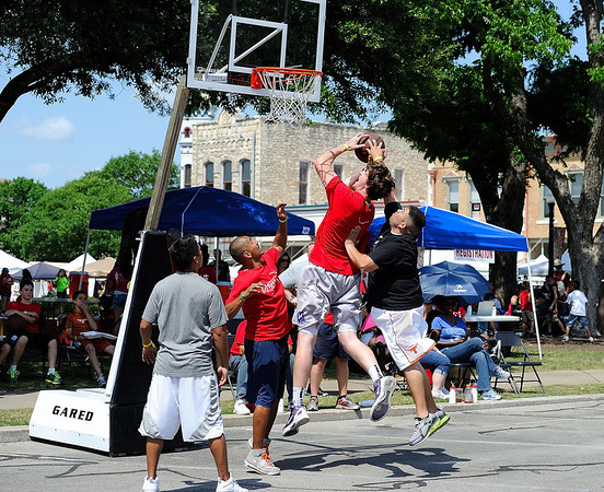 Celebration Serves - 3 on 3 Basketball at The Georgetown Red Poppy Festival April 29, 2012