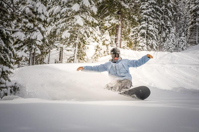 Snowboard slash