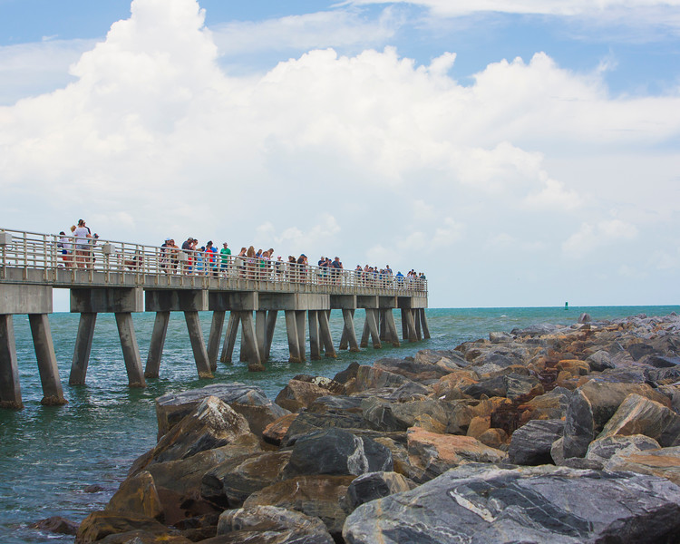 Port Canaveral pier @ Jetty Park