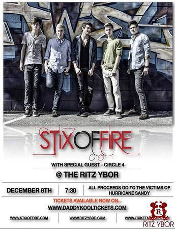 Hurricane Sandy Benefit Concert: Stix of Fire December 8, 2012