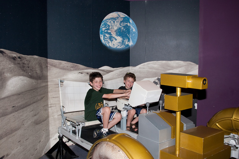 Lunar Rover drivers -- Kennedy Space Center Visitor Center