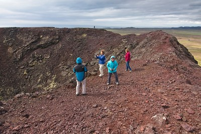 The 3000 year old crater of Stora Eldborg, Reykjavik Iceland