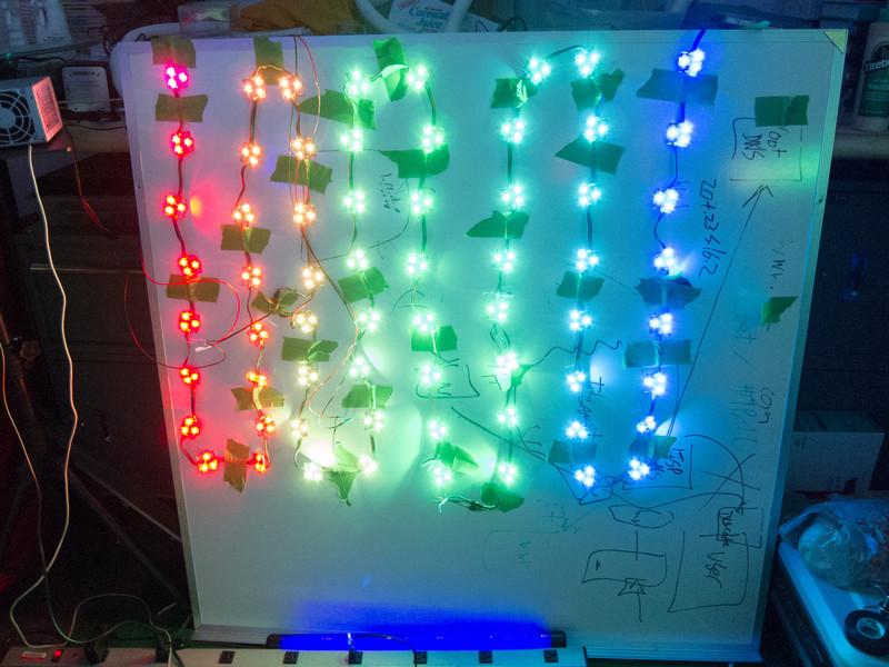 Testing LED grid after repair