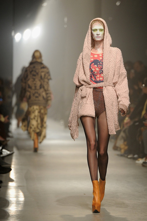 . A model walks the runway during the Vivienne Westwood Fall/Winter 2013 Ready-to-Wear show as part of Paris Fashion Week on March 2, 2013 in Paris, France.  (Photo by Pascal Le Segretain/Getty Images)