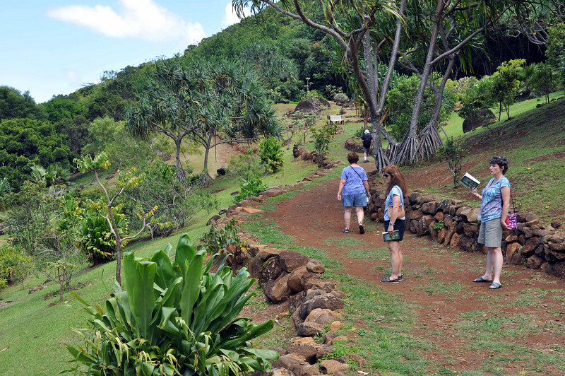 Nearing the end of the walk through the Limahuli Garden and Preserve, Kauai.