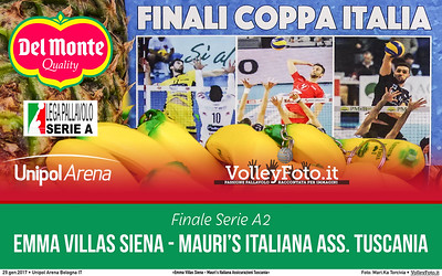 #Finale #DelMonteCoppa «Emma Villas Siena - Mauri's Italiana Assicurazioni Tuscania» #A2Mvolley