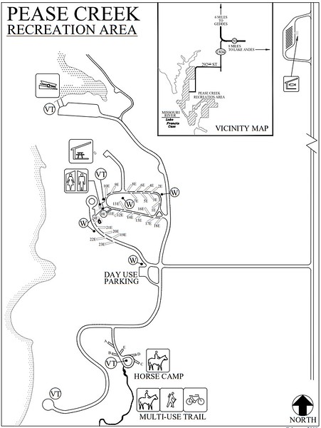 Pease Creek Recreation Area (Campground Map)