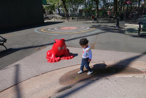 2014-05-25 Playground, Fleet Week Ship and Garden with FRP