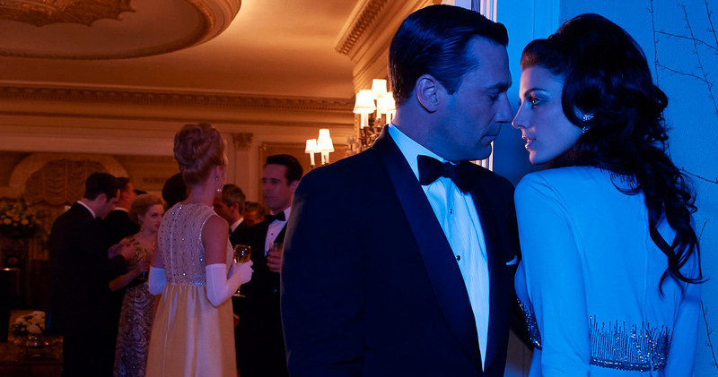 . Don Draper (Jon Hamm) and Megan Draper (Jessica Pare) - Mad Men - Season 6.  (Photo by Frank Ockenfels/AMC)