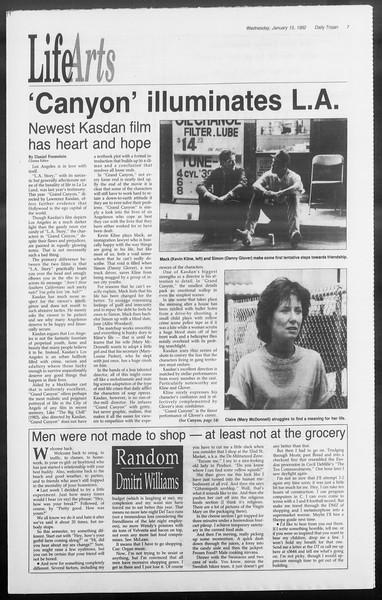 Daily Trojan, Vol. 117, No. 2, January 15, 1992