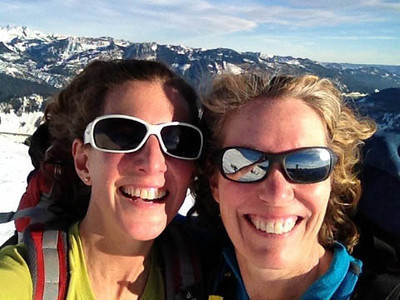 Lynn and Susan on Granite, January 2013