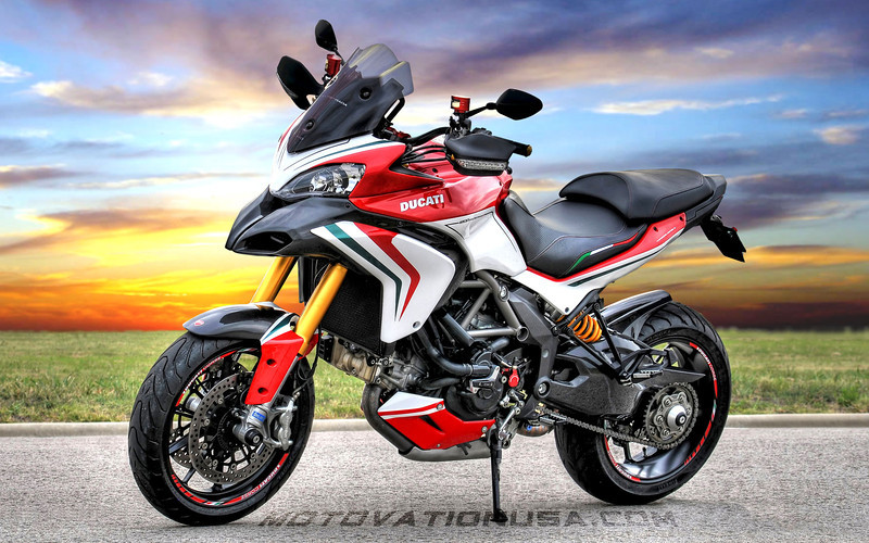 Custom Multistrada 1200S Tricolore by  http://www.motovationusa.com 