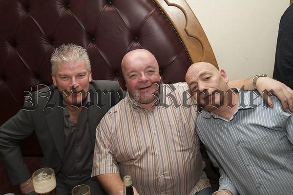 Charity Night in aid of Macmillan Nurses in the Armagh Down Bar on Saturday last.Brian Craven, Sean Mc Stay, Micky Mc Mahon.10W45N706
