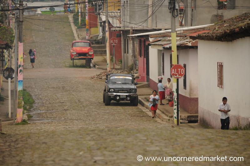 Street Scene - Apaneca, El Salvador