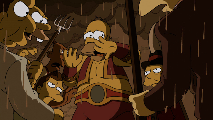 ". THE SIMPSONS: In ""Freaks no Geeks,\"" strongman Homer\'s plan for becoming the star of a 1930s traveling circus goes terrifyingly awry in the all-new \""Treehouse of Horror XXIV\"" episode of THE SIMPSONS airing Sunday, Oct. 6 (8:00-8:30 PM ET/PT) on FOX. THE SIMPSONS � and © 2013 TCFFC ALL RIGHTS RESERVED."