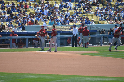 Diamond Backs at Dodgers, Bottom of the First, 20 April 2014