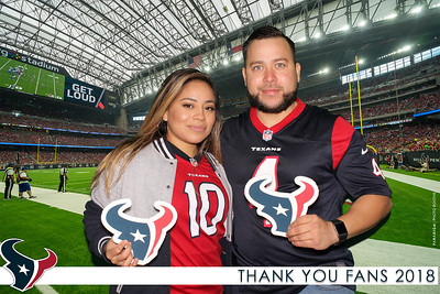 December 30, 2018 - Houston Texans Thank You Fans 2018