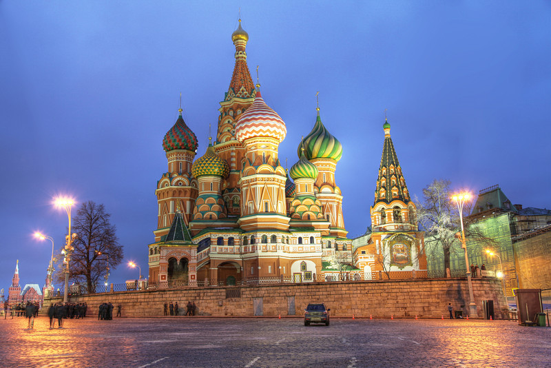 St. Basil's Cathedral, Moscow, Russia. (HDR)