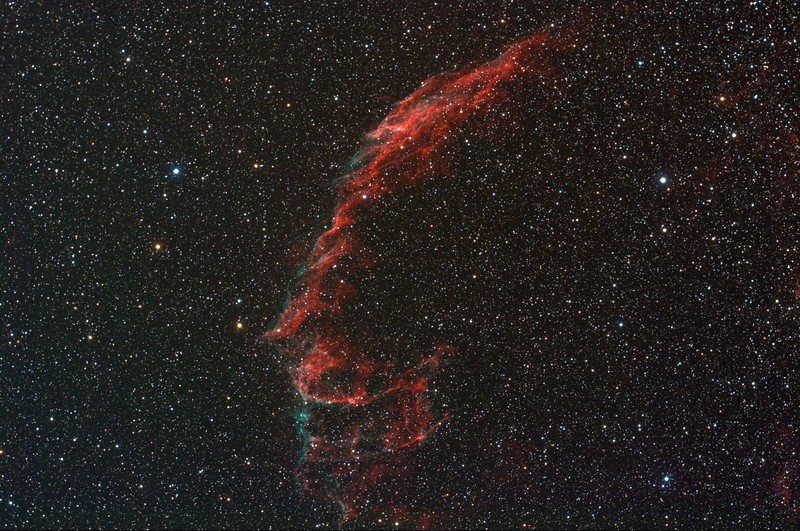 The supernova remnant NGC6992 in the Cygnus constellation
