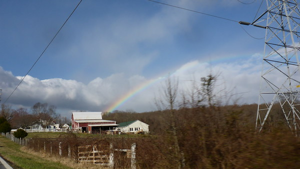 2015 - 04 - Rainbow on the way to church