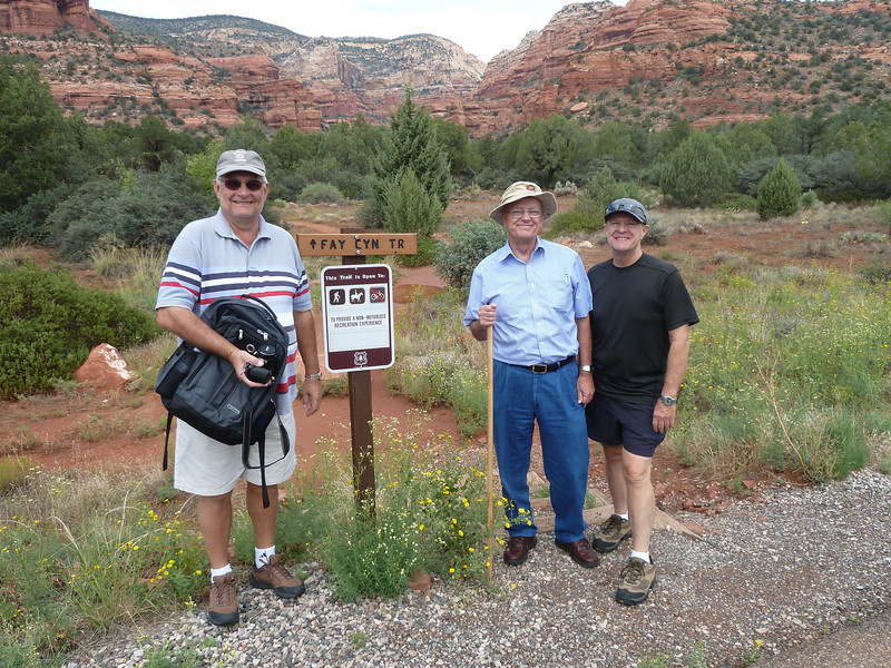 Richard, Edmund,  Butch (and Ed)  at Fay Canyon Trail (the girls were shopping)