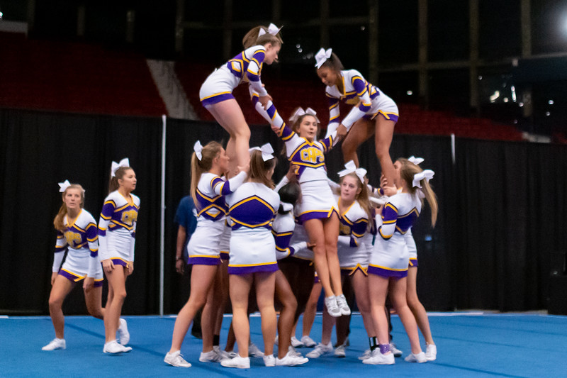 Broughton cheerleading Pre-States. November 16, 2019. D4S_1791