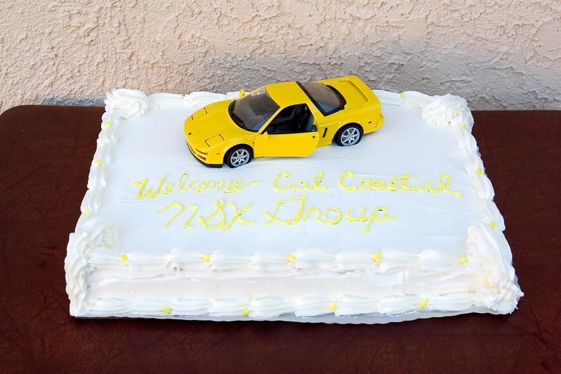 John (Anytime) parks his NSX on the cake
