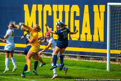 9-20-15 Michigan Women's Soccer Vs Iowa
