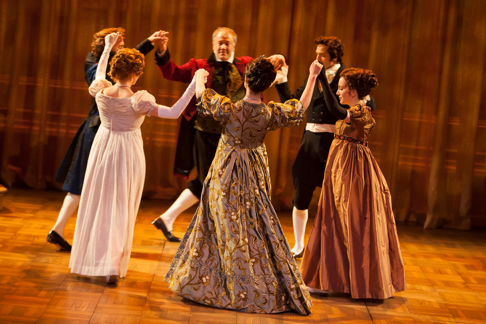 """. The cast of the Denver Center Theatre Company\'s world premiere of \""""Sense & Sensibility The Musical,\"""" by Jeffrey Haddow and Neal Hampton.   Photo by Jennifer M. Koskinen"""