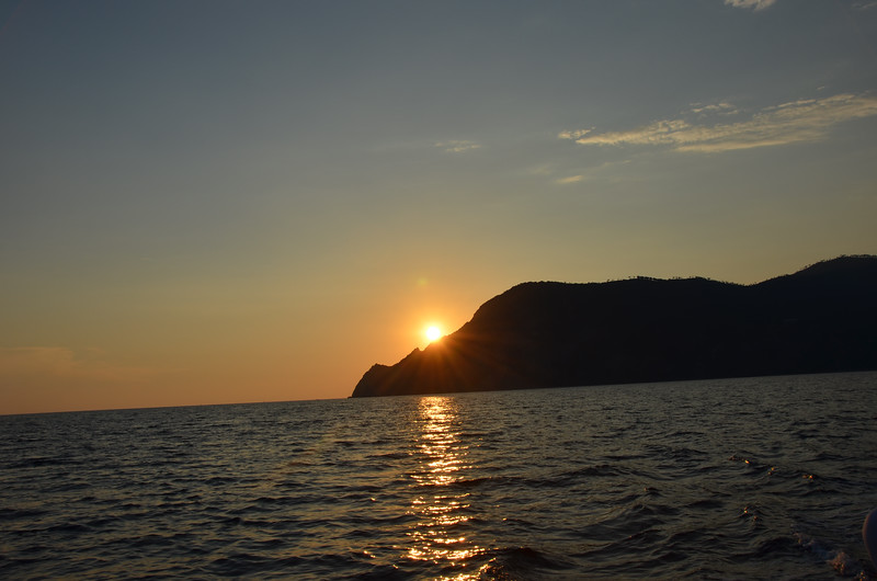 Sunset. Cinque Terre