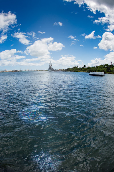 Fuel oil leaking from the USS Arizona.