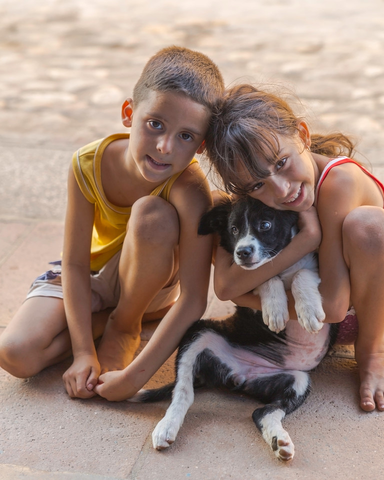 Puppies AND Children