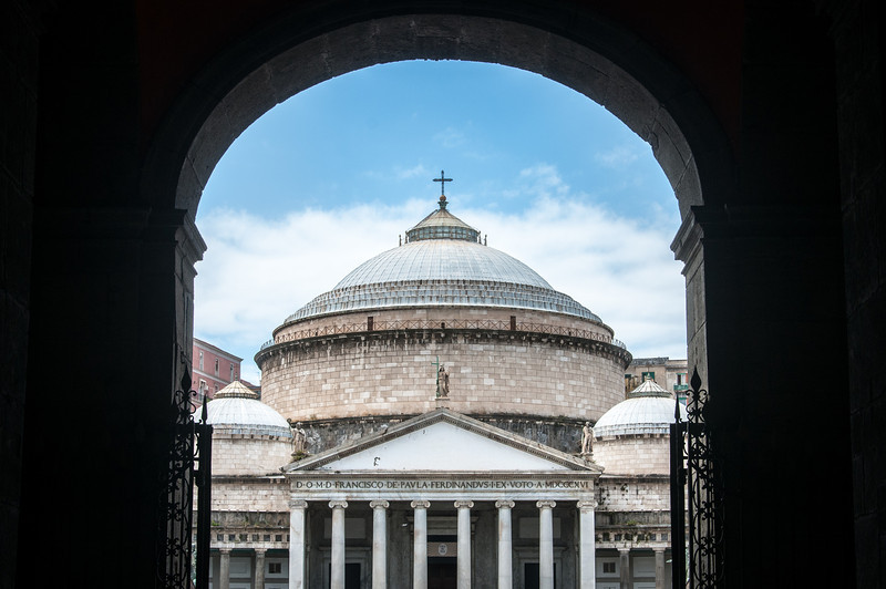The Church of San Francesco di Paola in Naples, Italy