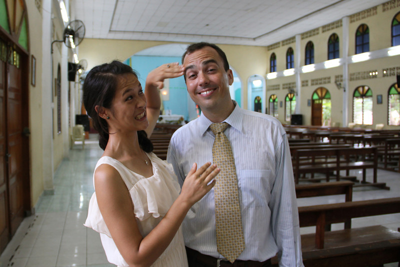 the church was really hot, and was drenched in sweat from start to finish