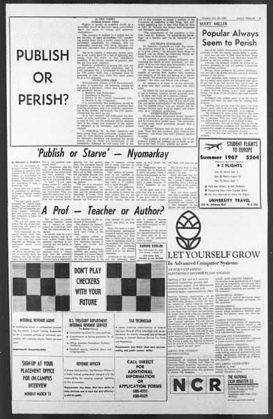 Daily Trojan, Vol. 58, No. 79, February 28, 1967