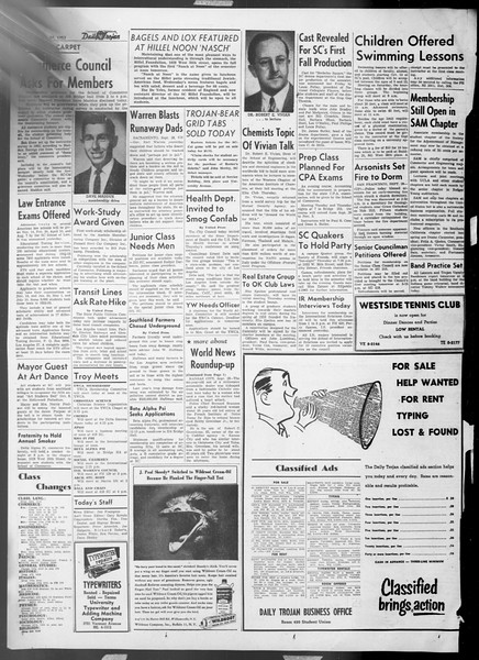 Daily Trojan, Vol. 45, No. 7, September 29, 1953
