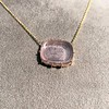 'INV My Letter' Pale Pink Glass Rebus Pendant, by Seal & Scribe 21