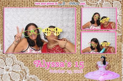 Alyssa's 15 - 10/29/2016